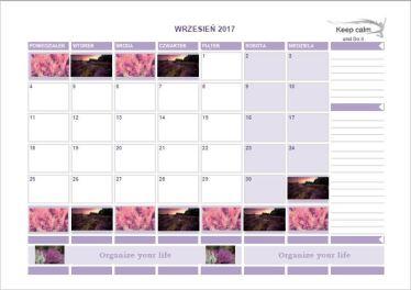 Kalendarz na wrzesień 2017